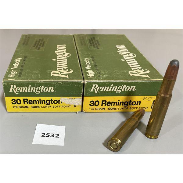 AMMO: 40X REMINGTON 30 REM 170GR