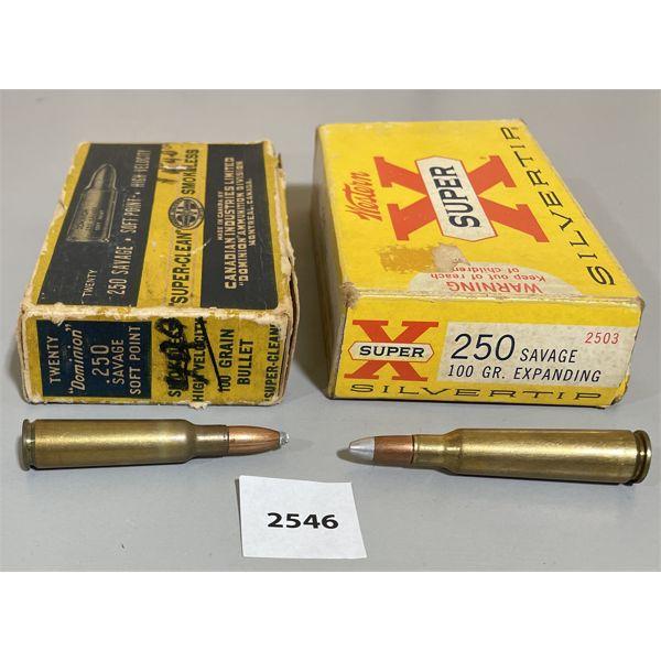 AMMO: 40X 250 SAVAGE 100GR