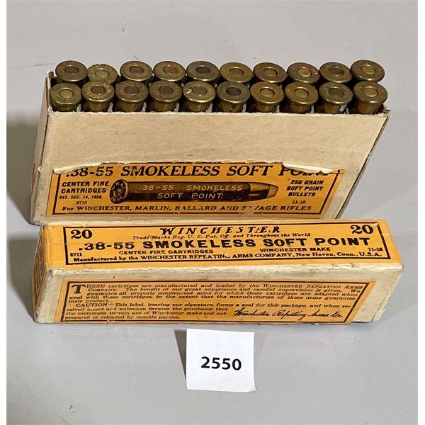 AMMO: 20X WINCHESTER 38-55 WIN 255GR
