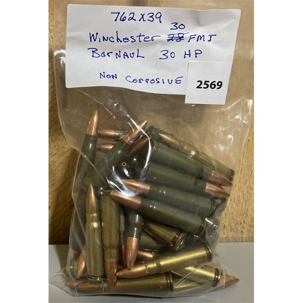 AMMO: APPROX 60X 7.62X39MM MIXED