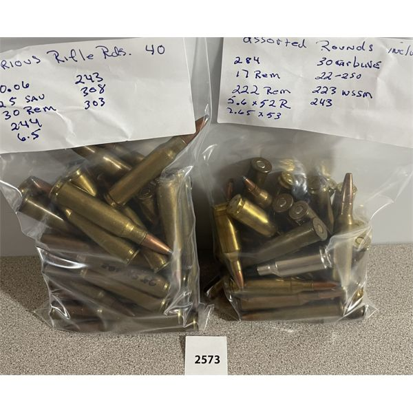 AMMO: APPROX 60X ASSORTED CARTRIDGES