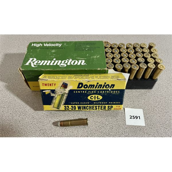 AMMO: 70X 32-20 WIN MIXED BULLETS WEIGHTS