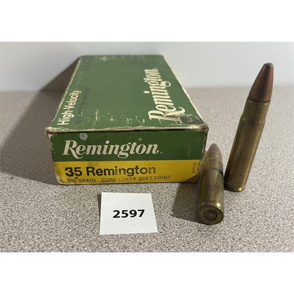 AMMO: 20X REMINGTON 35 REM 200GR