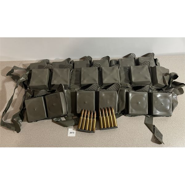 AMMO: 240X 7.62X51MM MILITARY BALL WITH CLIPS AND BANDOLIERS