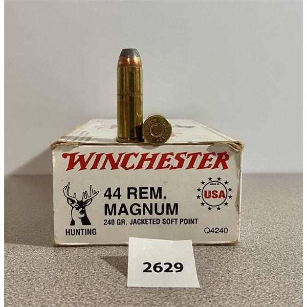 AMMO: 50X WINCHESTER 44 REM MAG 240GR JSP