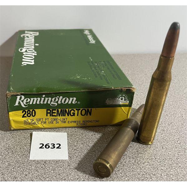 AMMO: 20X REMINGTON 280 REM 165GR