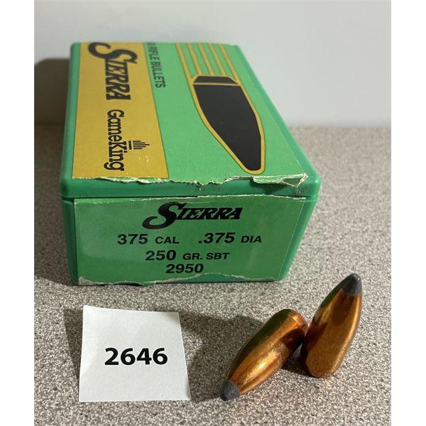 BULLETS: 50X .375 CAL 250GR