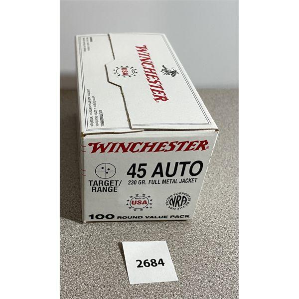 AMMO: 100X WINCHESTER 45 ACP 230GR FMJ