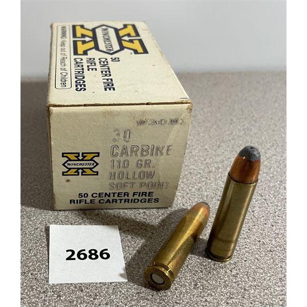 AMMO: 50X WINCHESTER 30 CARBINE 110GR HP