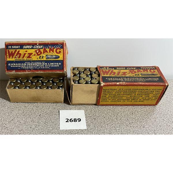 AMMO: 100X WHIZ-BANG 50X 22 SHORT & 50X 22 LR