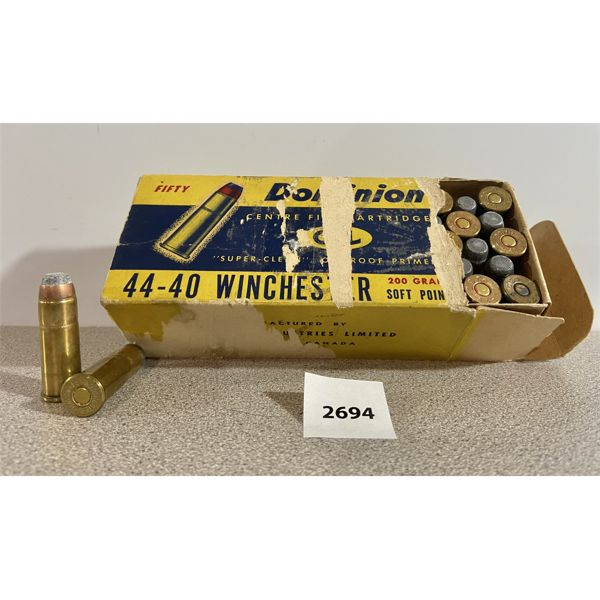 AMMO: 50X 44-40 WIN MIXED BRANDS