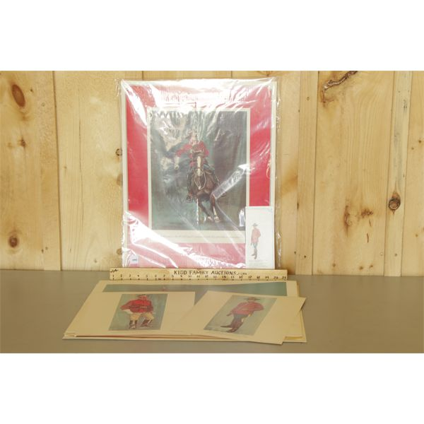 LOT OF 2 - SET OF WINCHESTER / RCMP COLLECTOR PRINTS - ONE SET AS NEW.