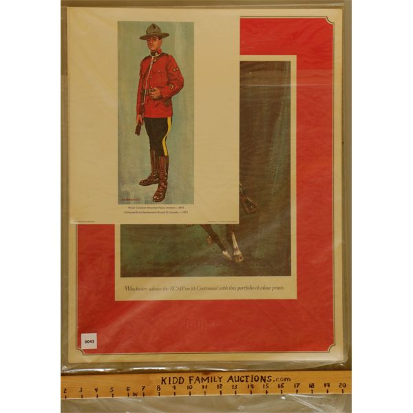 SET OF WINCHESTER / RCMP COLLECTOR PRINTS - AS NEW.