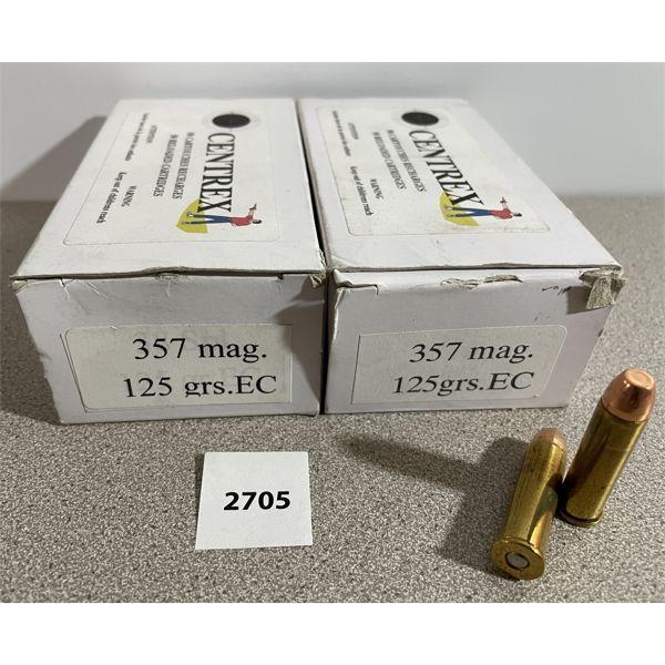 AMMO: 100X 357 MAG CENTREX RELOADS 125GR