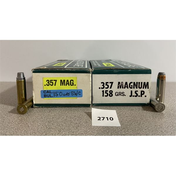 AMMO: 100X 357 MAG JSP & SWC MIXED