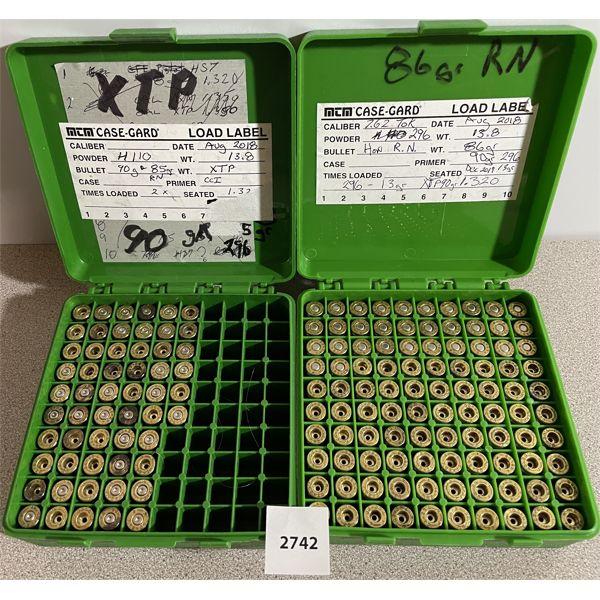 BRASS: 156X 7.62X25MM TOKAREV- INCLUDES 32X PRIMED
