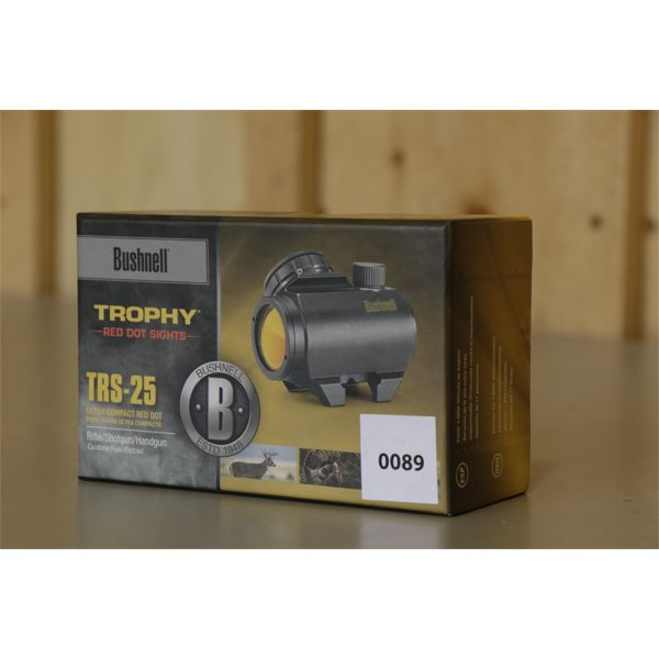 BUSHNELL TROPHY RED DOT SIGHT - TRS 25 - AS NEW
