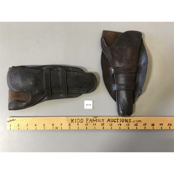 2 LEATHER COWBOY TYPE HOLSTERS