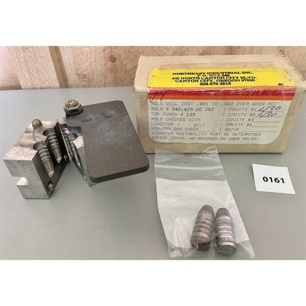 NEI .340 - 429 DOUBLE BULLET MOULD
