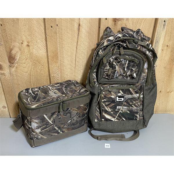 LOT OF 2 - BANDED BACK PACK & 12 PACK COOLER BAG