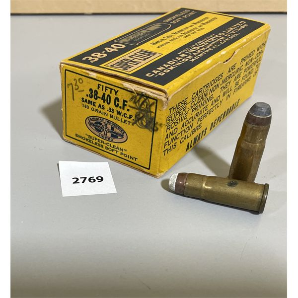 AMMO: 50X CIL 38-40  180 GR
