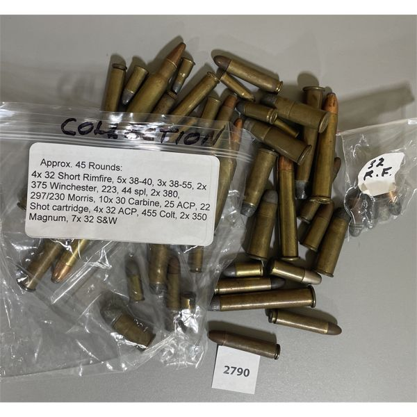 AMMO: APPROX 45 X MIXED CARTRIDGES