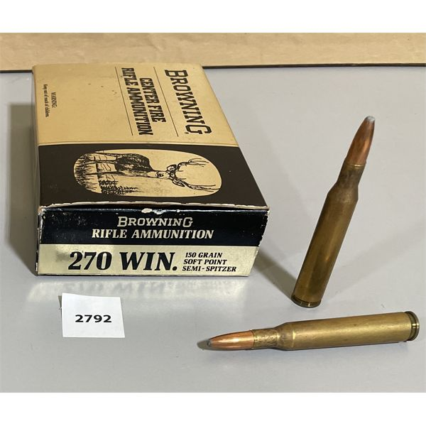 AMMO: 13 x BROWNING .270 CAL 150 GR