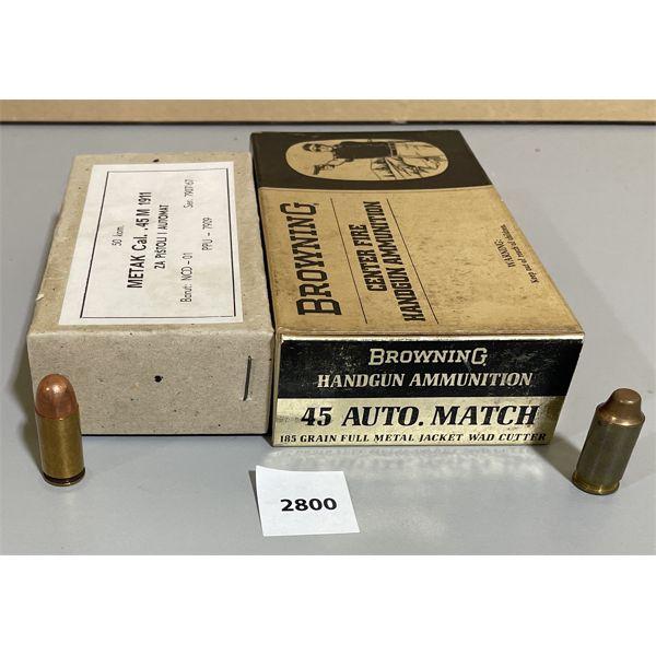 AMMO: 96 X .45 ACP