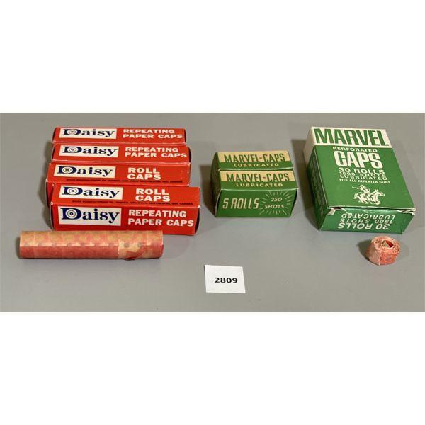 78 ROLLS OF MARVEL & DAISY CAP GUN CAPS
