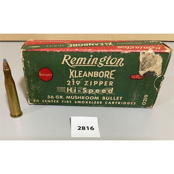 AMMO: 20 X REMINGTON .219 ZIPPER RELOADS