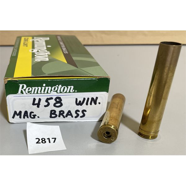 BRASS: 20 X .458 WIN MAG - ONCE FIRED