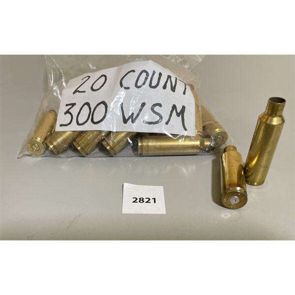 BRASS: 20 X .300 WSM - ONCE FIRED