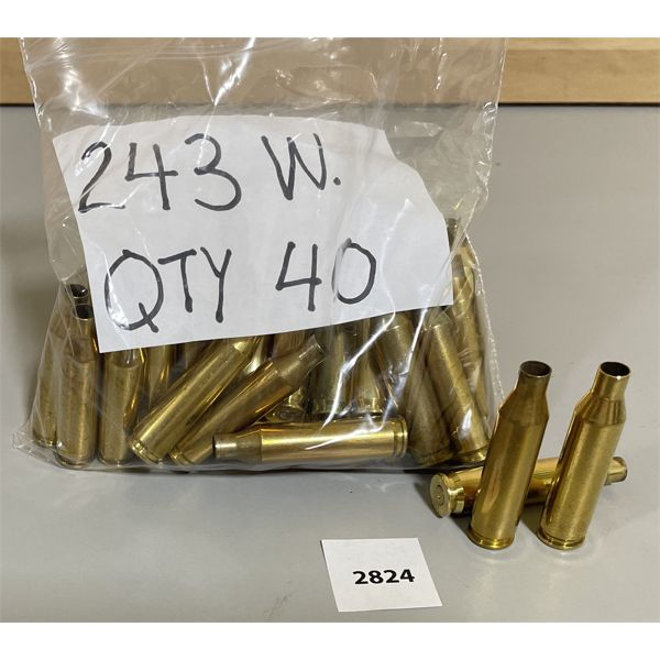 BRASS: 40 X .243 WIN - ONCE FIRED