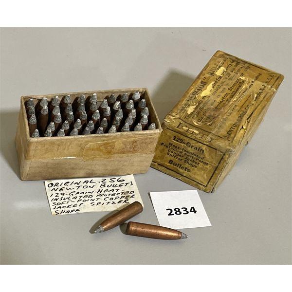 BULLETS: 48 X .256 NEWTON 129 GR - ANTIQUE ORIG BOX