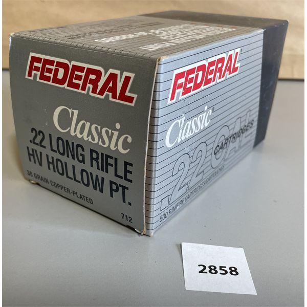 AMMO: 500 X FEDERAL .22 LR