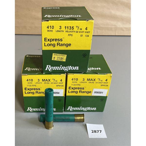 """AMMO: 75 X REMINGTON 410 GA 3"""" NO 4"""