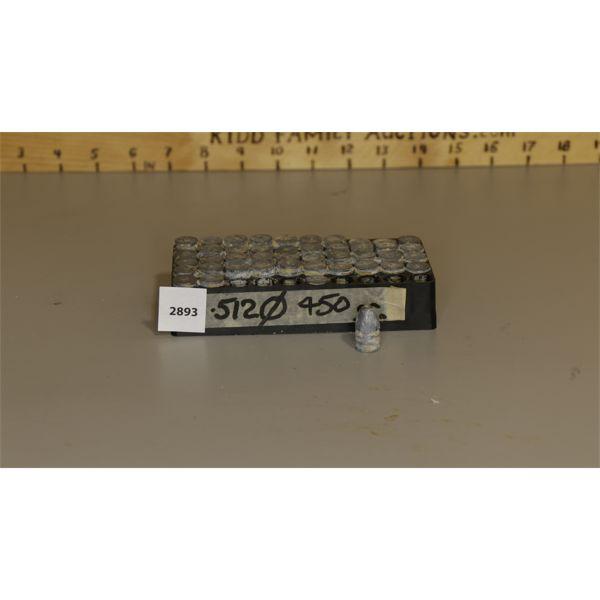 APPROX 45 .512 BULLETS, 450GR