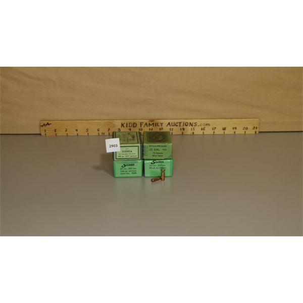 APPROX 300X .257 SIERRA BULLETS