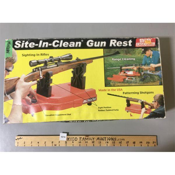 SITE-IN-CLEAN GUN REST