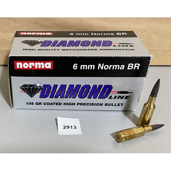 AMMO: 50 X NORMA 6 MM NORMA BR 105 GR