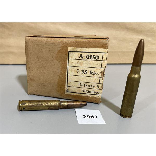 AMMO: 18 X 7.35 ITALIAN CARCANO
