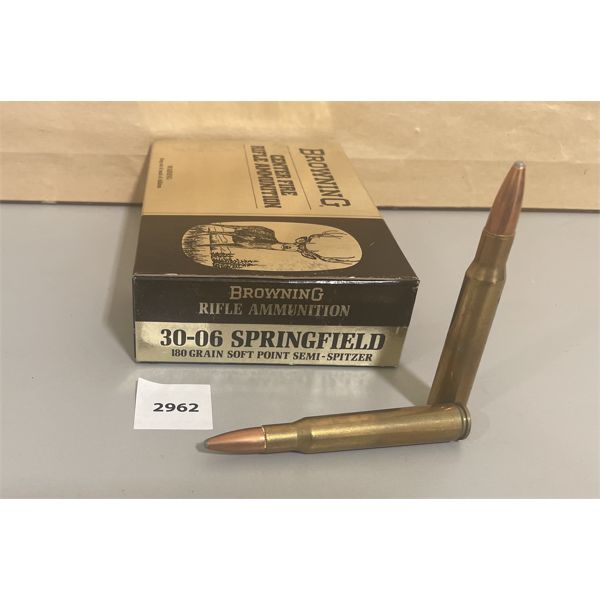 AMMO: 20 X BROWNING .30-06 CAL 180 GR