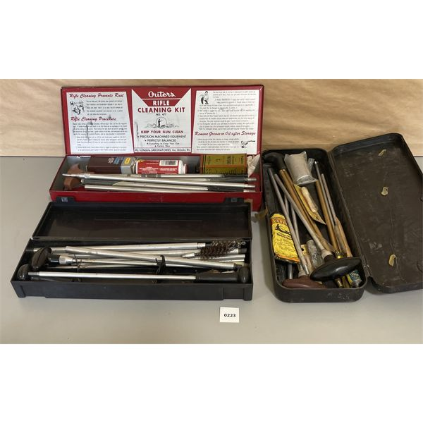 LOT OF GUN CLEANING TOOLS