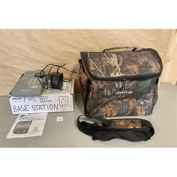 NORTH 49 GEAR BAG - AS NEW & PHILIPS BASE RADIO