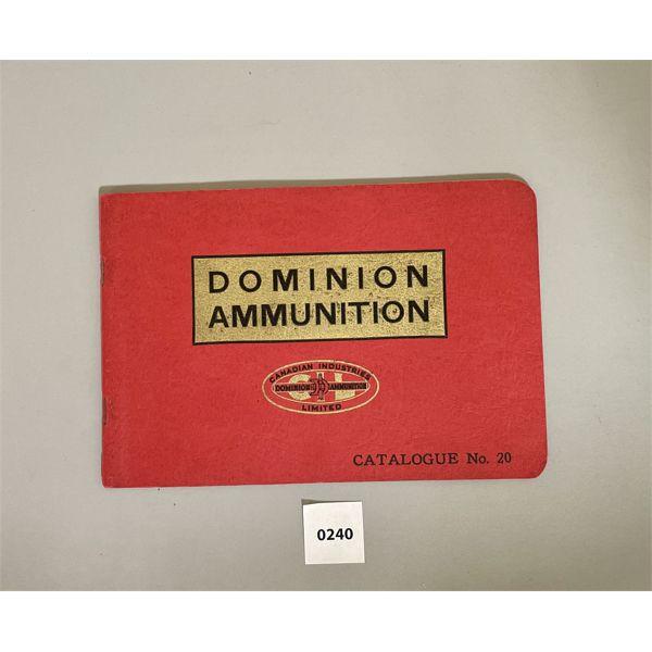 1935 DOMINION / CIL AMMO CATALOG - EXCELLENT CONDITION