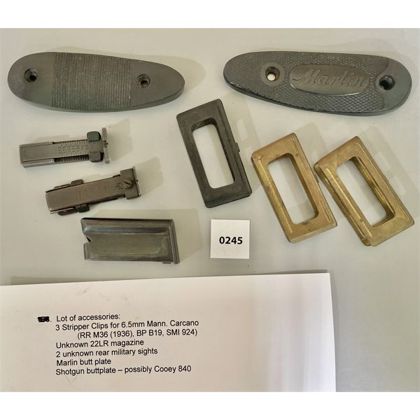 JOB LOT - RECOIL PADS, CLIPS, MAG - SEE LIST