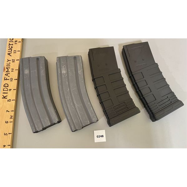 LOT OF 4 - 5.56 CAL MAGS - ALL LIMITED TO 5 RNDS