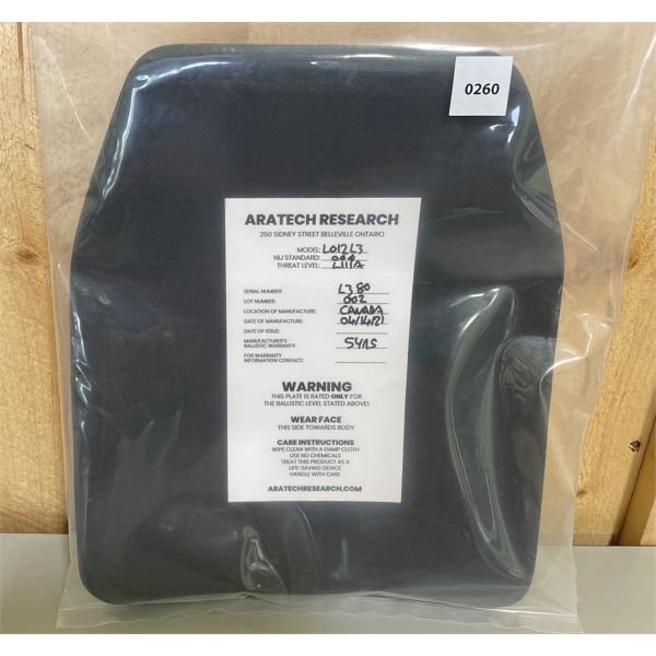 ARATECH RESEARCH CO - BALLISTIC BODY ARMOUR - NEW