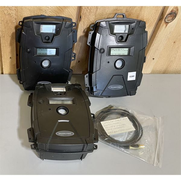 LOT OF 3 MOULTRIE TRAIL CAMS