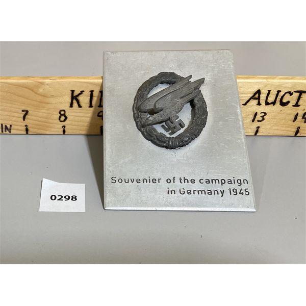 WW2 1945 GERMAN METAL SOUVENIR